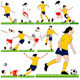 12 Female Soccer Silhouettes Set - GraphicRiver Item for Sale