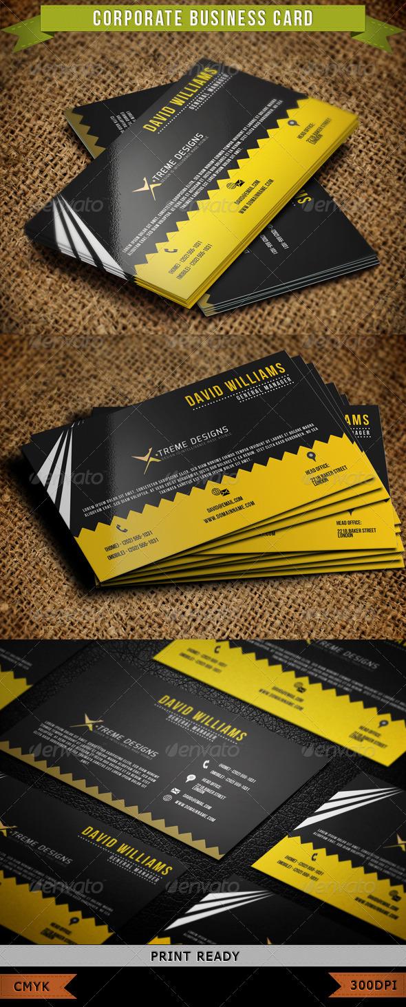 Corporate Business Card 002 - Corporate Business Cards