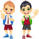 Vector Happy Smiling Schoolchildren Boys - GraphicRiver Item for Sale