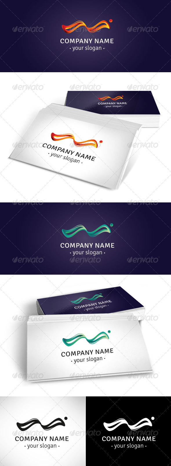 Wave Logo Template - Vector Abstract