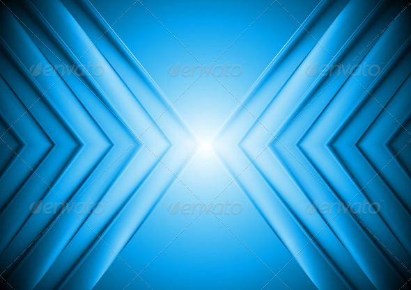 Bright Blue Tech Background - Backgrounds Decorative