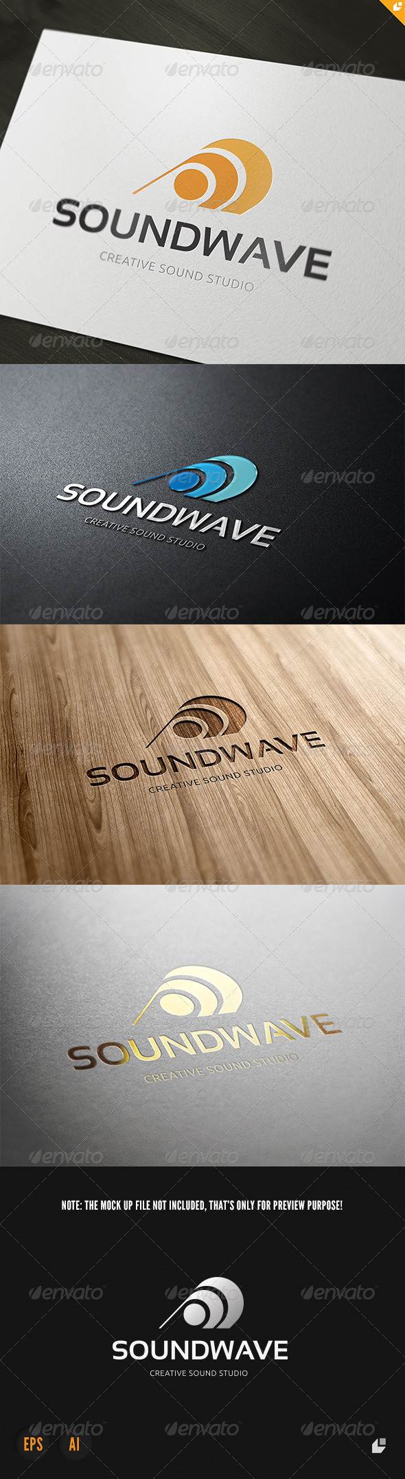 Sound Wave Logo - Vector Abstract