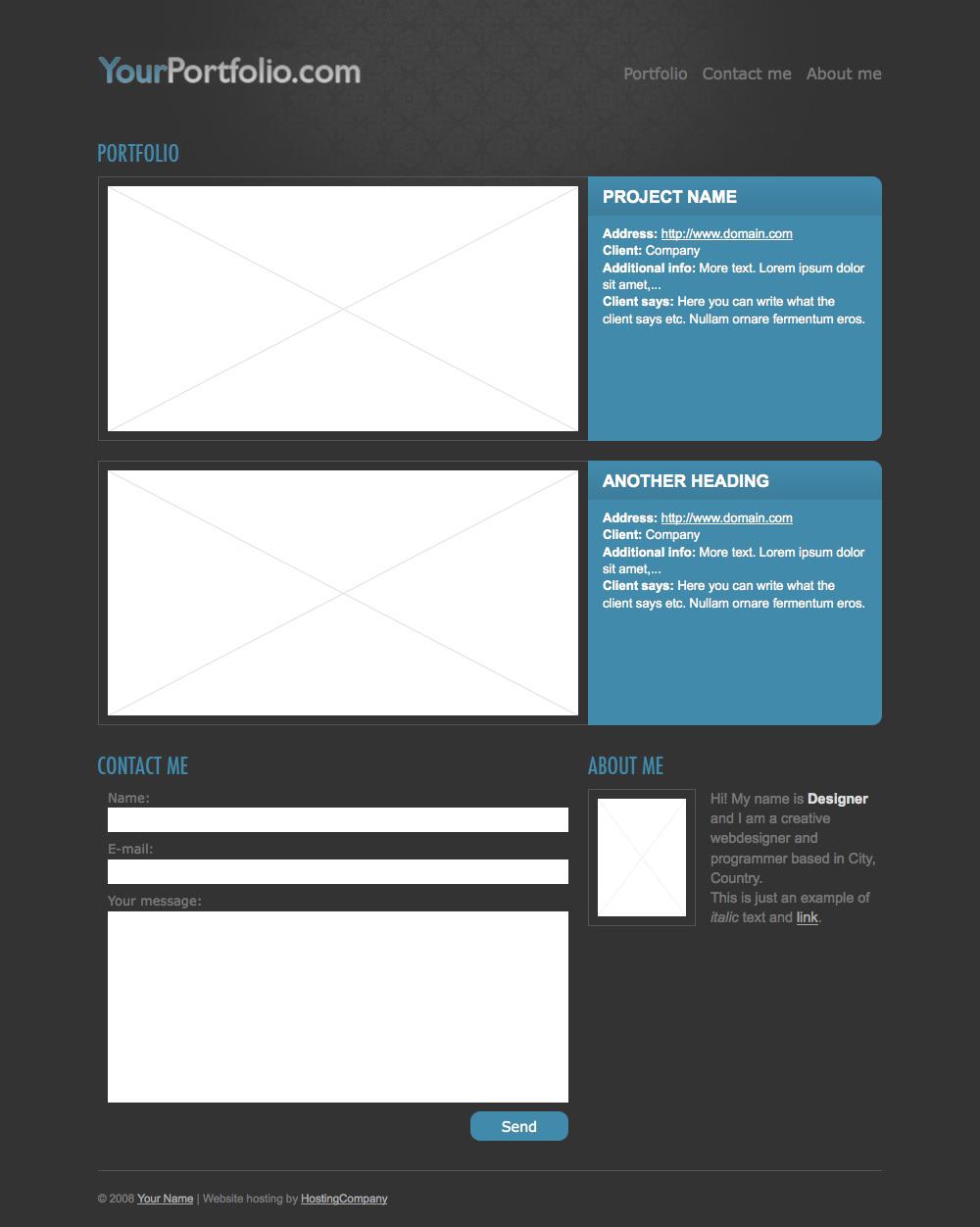 Free Download Simple portfolio theme Nulled Latest Version