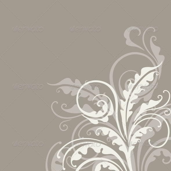 Decorative Floral Background - Backgrounds Decorative