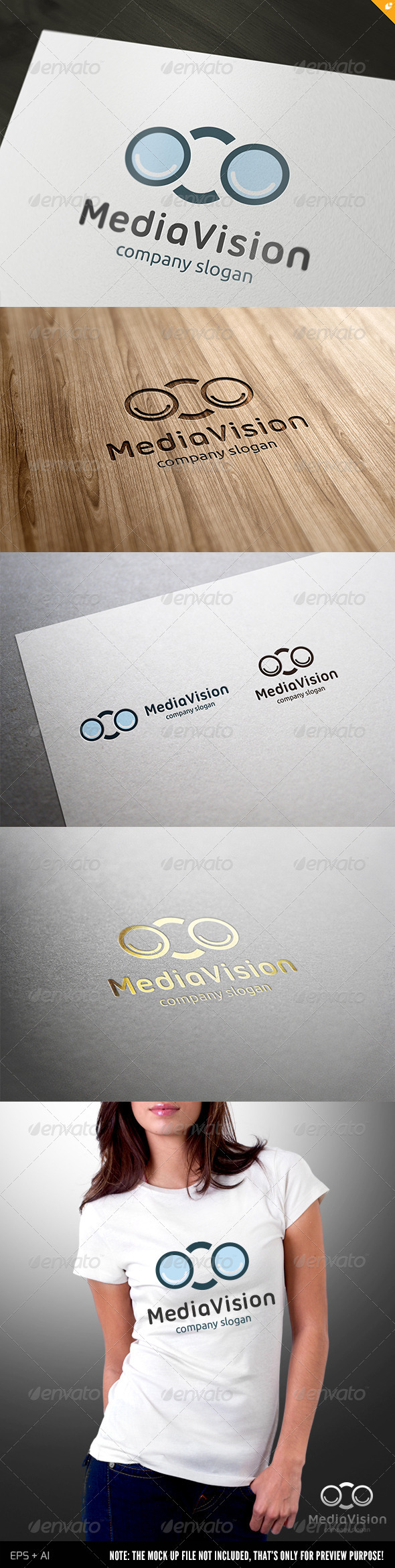 Media Vision Logo - Objects Logo Templates