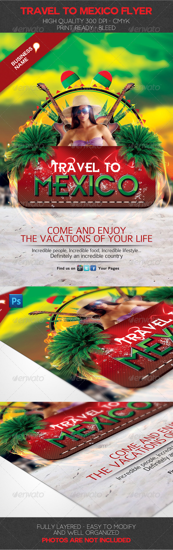 Travel to Mexico Flyer Template - Holidays Events