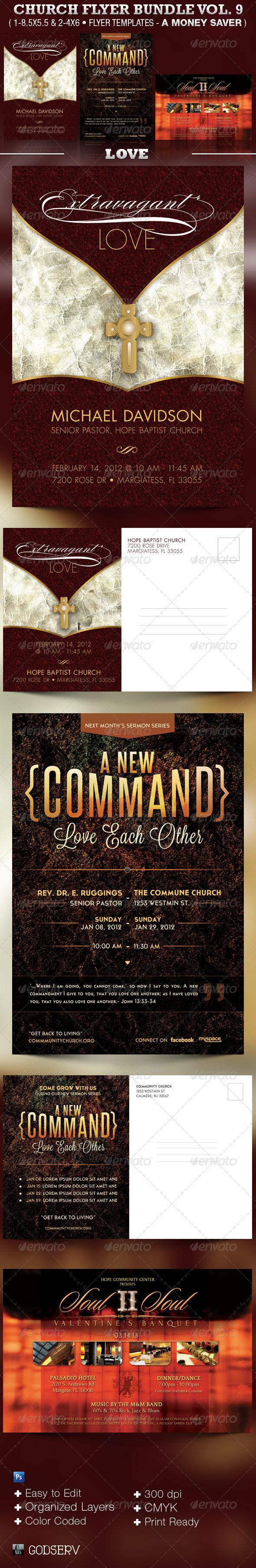Love Church Flyer Template Bundle - Church Flyers