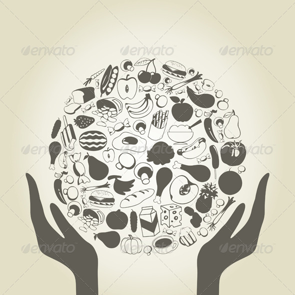 Hand food - Miscellaneous Vectors