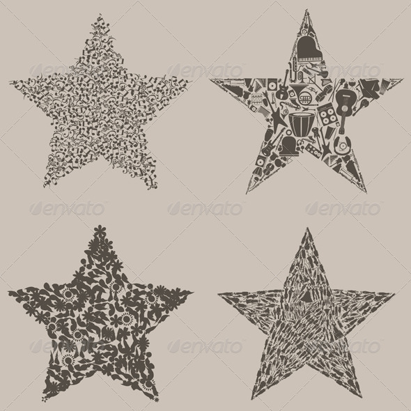 Set of stars - Miscellaneous Vectors