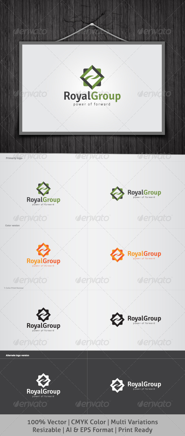 Royal Group Logo - Vector Abstract
