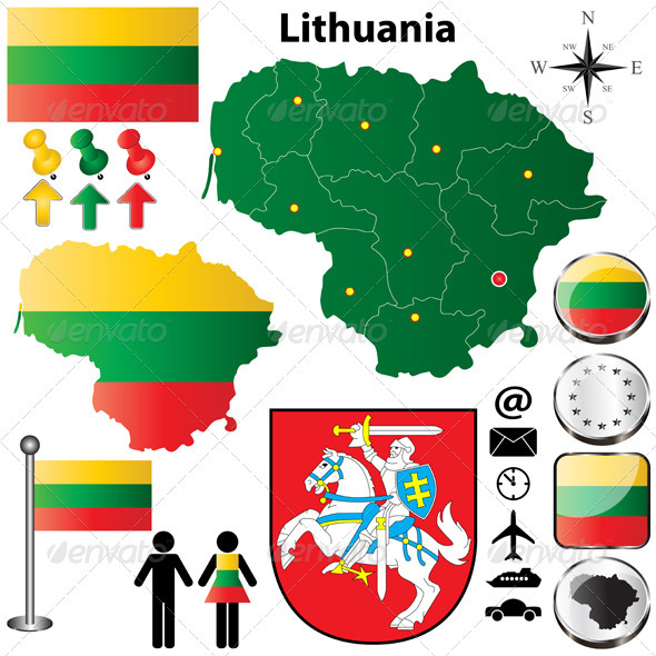 Lithuania Map - Travel Conceptual