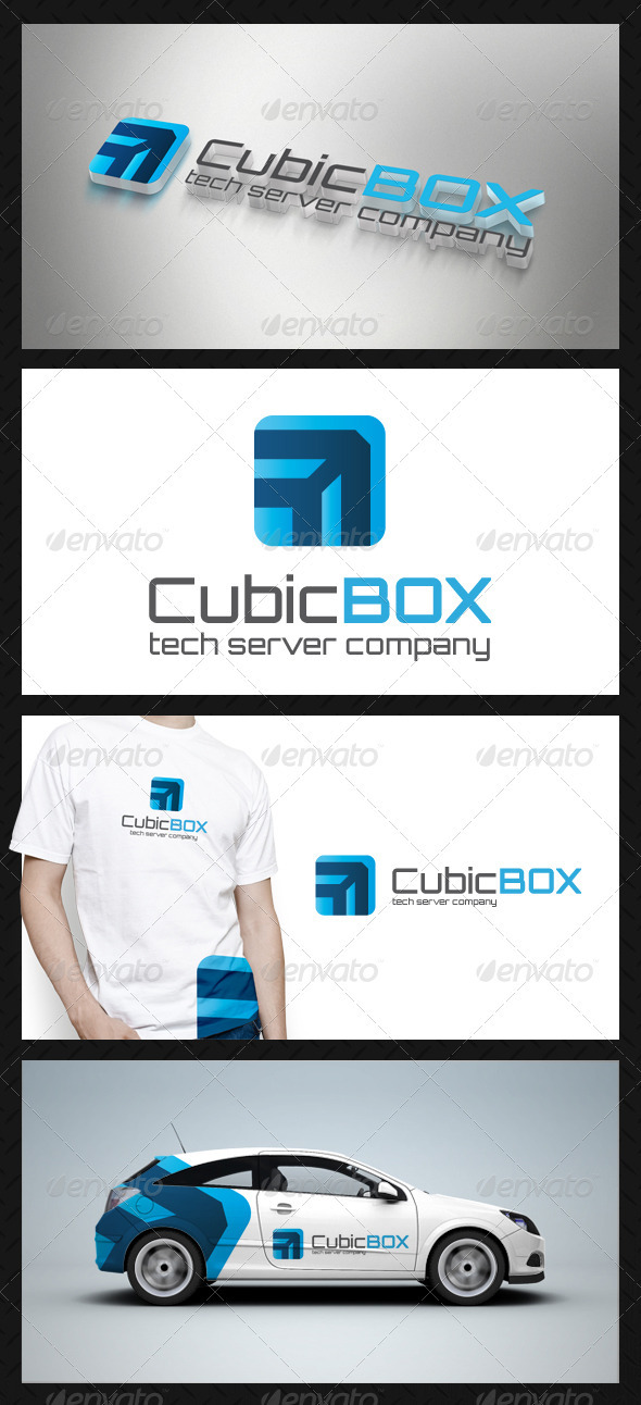 Cube Box Tech Logo Template - Vector Abstract