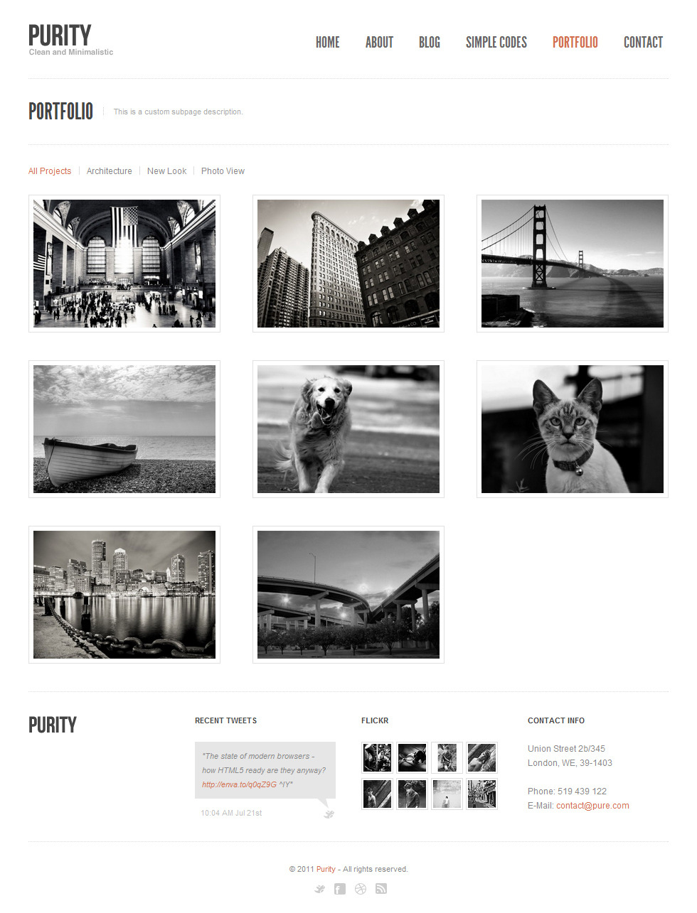 Purity: Responsive, Clean, Minimal & Bold Template by Veented ...