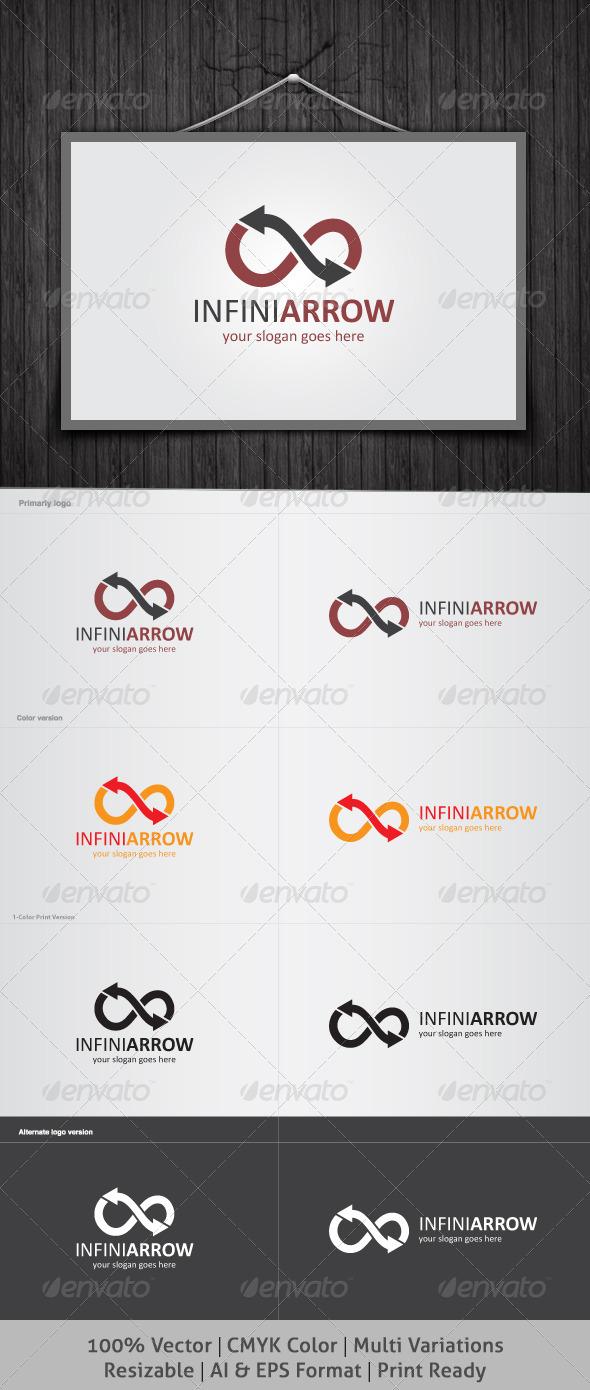 Infini Arrow Logo - Symbols Logo Templates