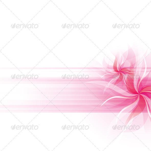 Vector Flowers Background - Flourishes / Swirls Decorative