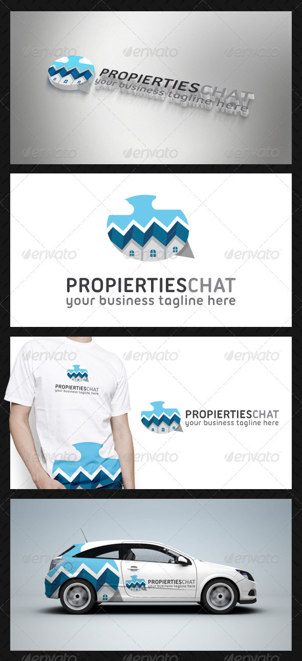Properties Chat Logo Template - Buildings Logo Templates