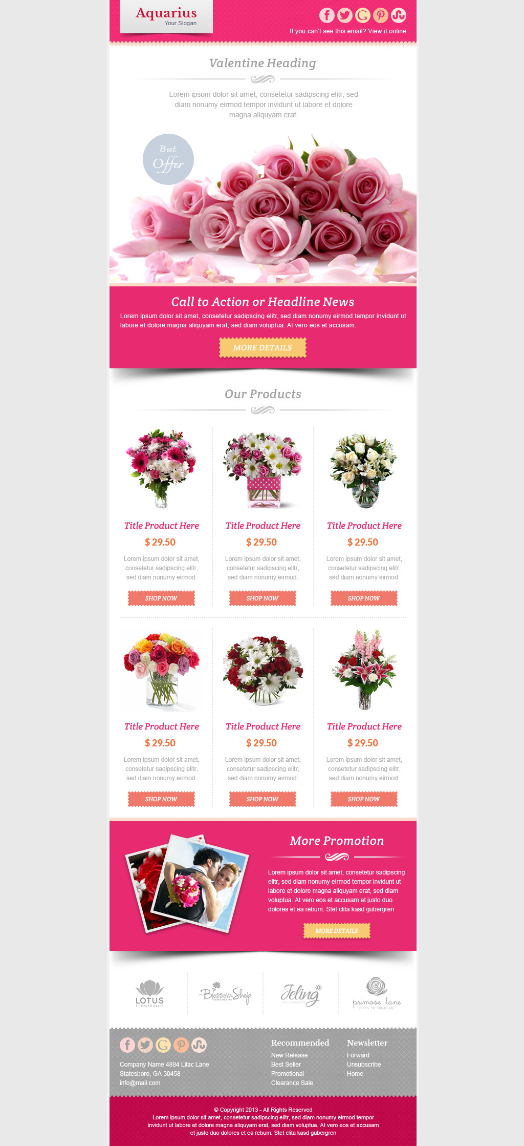 Valentine Email Template Theme Preview 02 Preview2