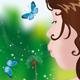 Girl Blowing on Dandelion - GraphicRiver Item for Sale