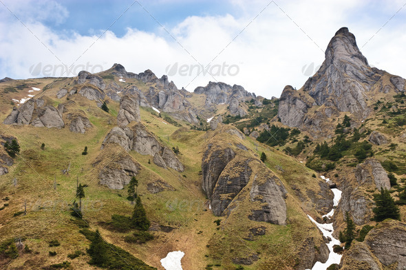 mountains with clouds - Stock Photo - Images