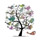Art Tree with Funny Fishes for your Design - GraphicRiver Item for Sale