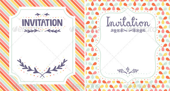 Invitation Templates - Decorative Vectors