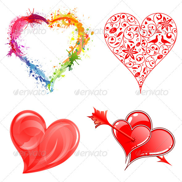 Collect Valentine's Day Hearts - Valentines Seasons/Holidays
