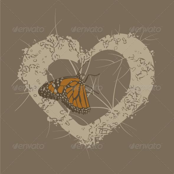 Butterfly Heart Background - Backgrounds Decorative