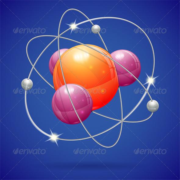 Atom Model - Health/Medicine Conceptual