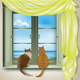 Cats Looking Out of Window - GraphicRiver Item for Sale