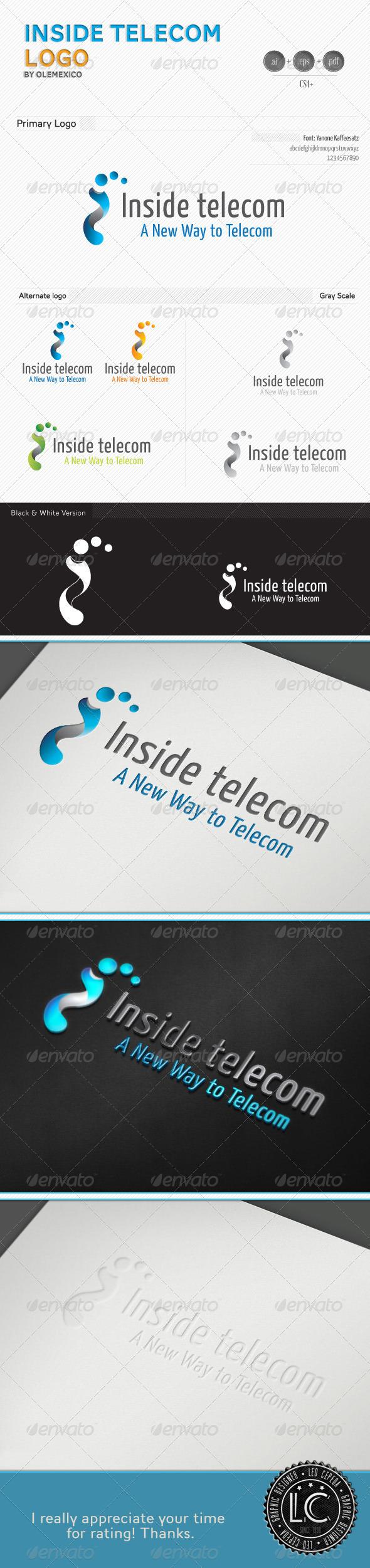 Inside Telecom Logo - Vector Abstract
