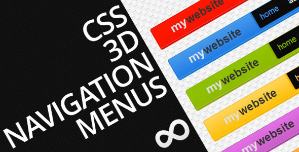 CSS 3D Navigation Menus - CodeCanyon Item for Sale