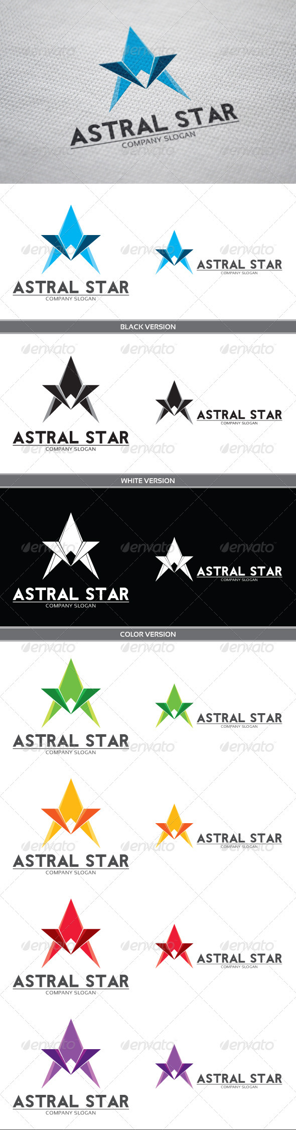 Astral Logo - Letters Logo Templates