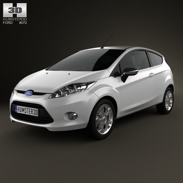 Ford Fiesta hatchback 3-door (EU) 2012 - 3DOcean Item for Sale