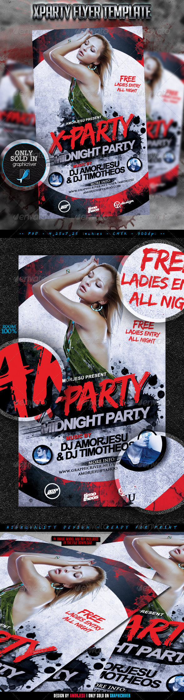 XParty Flyer Template - Clubs & Parties Events