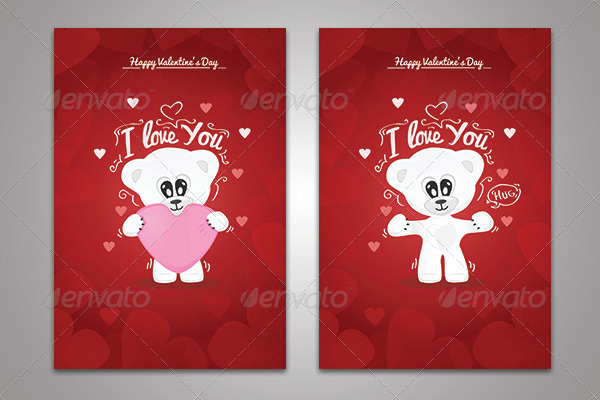 Valentine's Day Cartoons Card