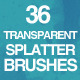 36 Transparent Splatter Brushes - GraphicRiver Item for Sale