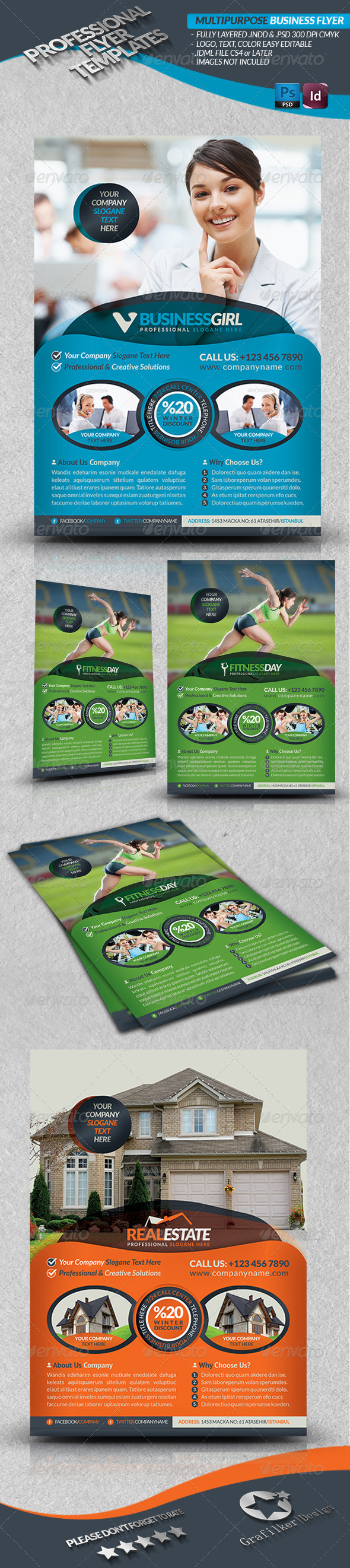 Multipurpose Business Template Flyer - Corporate Flyers