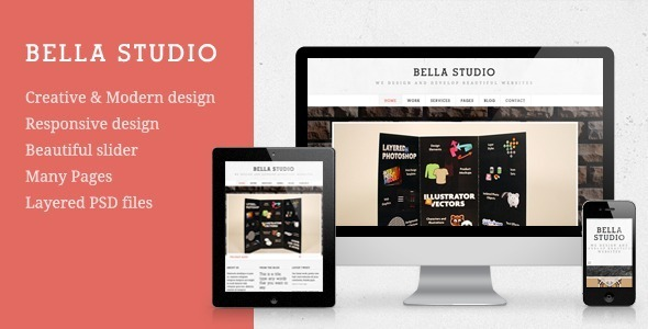 Bella Studio – Responsive Portfolio and Business