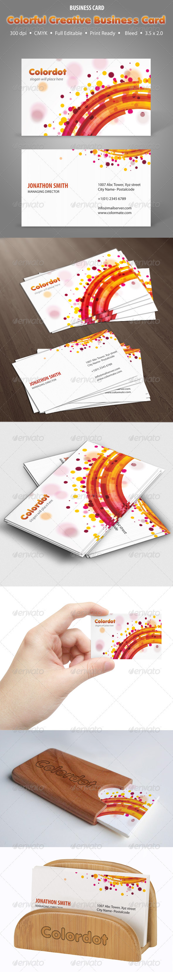 Colordot Creative Business Card - Creative Business Cards