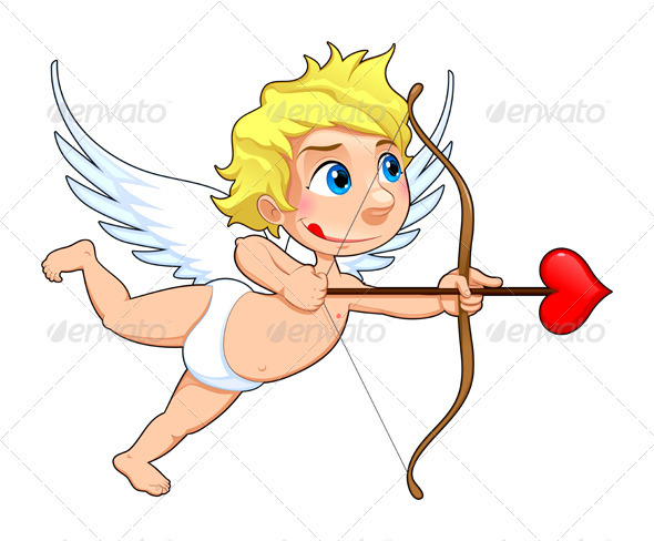Funny Cupid.  - Characters Vectors
