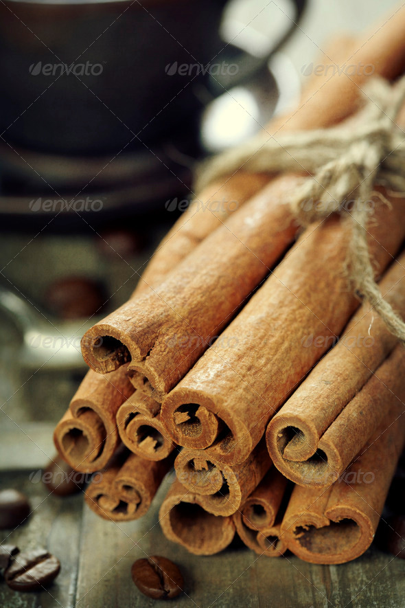 cinnamon and coffee - Stock Photo - Images