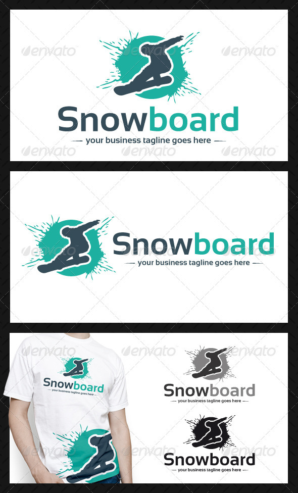 Snowboard Logo Template - Humans Logo Templates