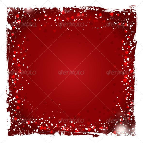 Grunge Valentine's Day Background - Valentines Seasons/Holidays