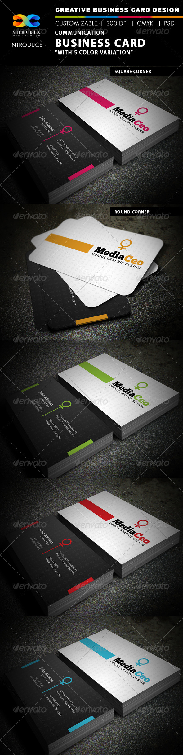 Communication Business Card - Creative Business Cards