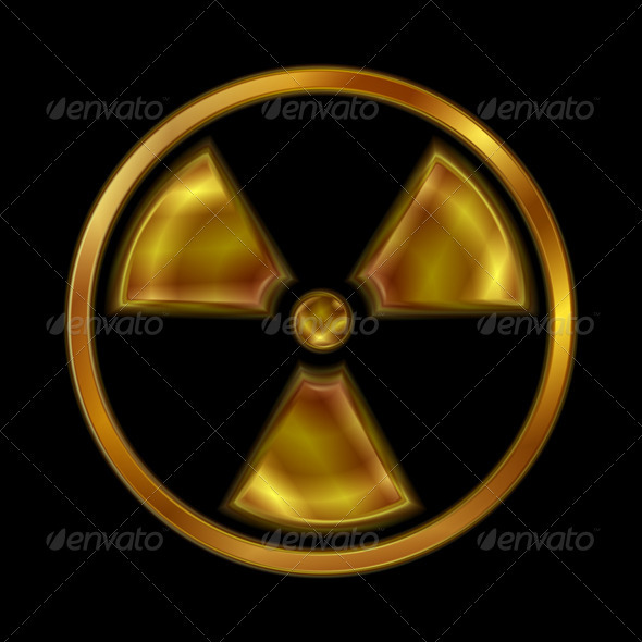 Nuclear Radiation Vector Symbol - Miscellaneous Conceptual