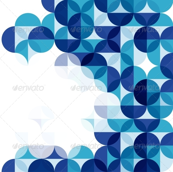 Blue Modern Geometrical Abstract Background - Backgrounds Business