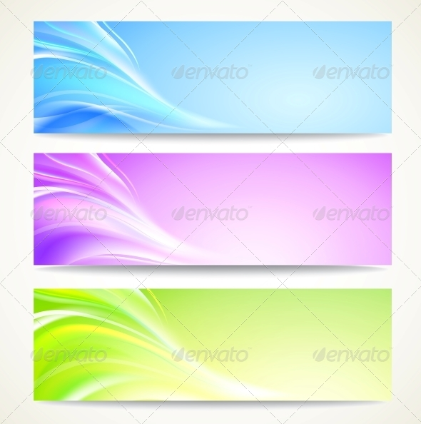Abstract Banners Set. - Abstract Conceptual