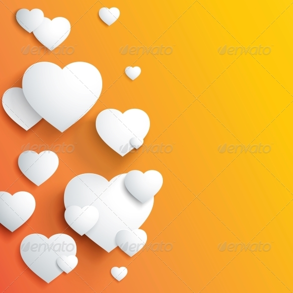 Stylish White Heart - Backgrounds Decorative