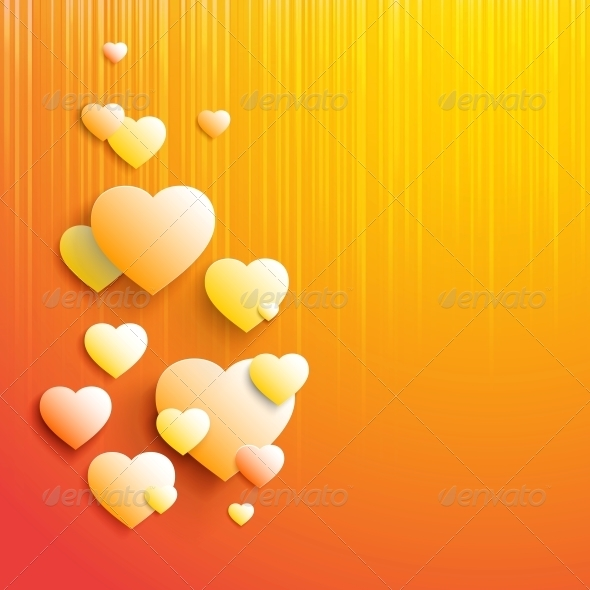 Stylish White Heart - Backgrounds Decorative
