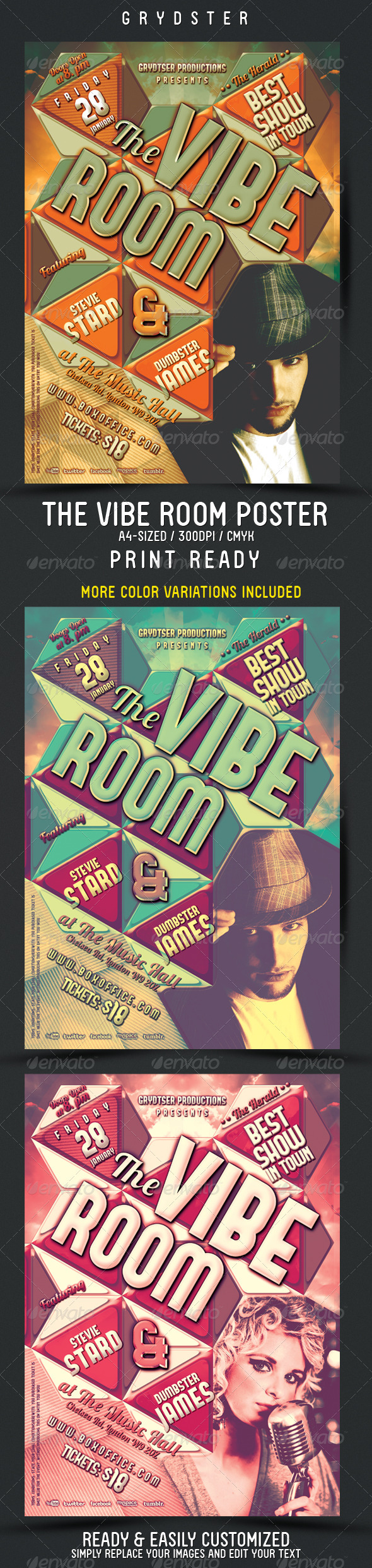 The Vibe Room Flyer - Poster - Clubs & Parties Events